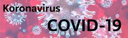 Banner sa natpisom Koronacirus i COVID-19